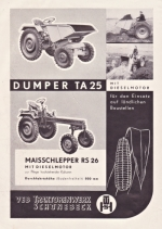 Plakat TA 25/RS 26 VEB Traktorenwerk Schönebeck